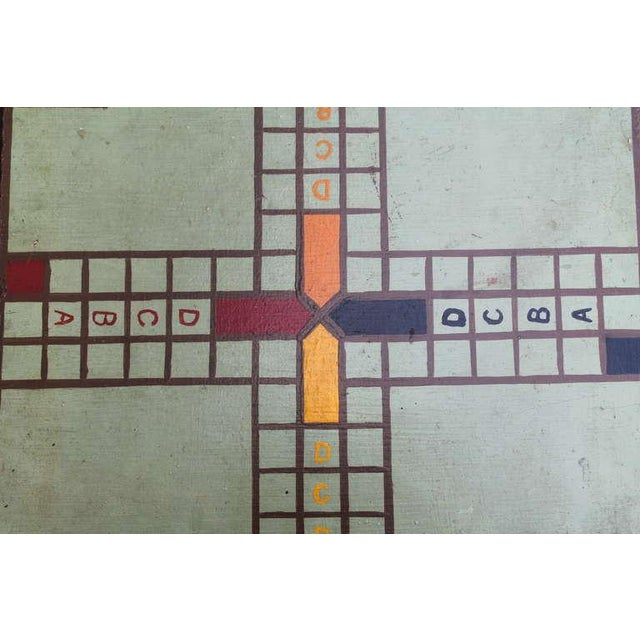 """1930s Original Painted Game Board with """"ABCD"""" For Sale - Image 5 of 6"""