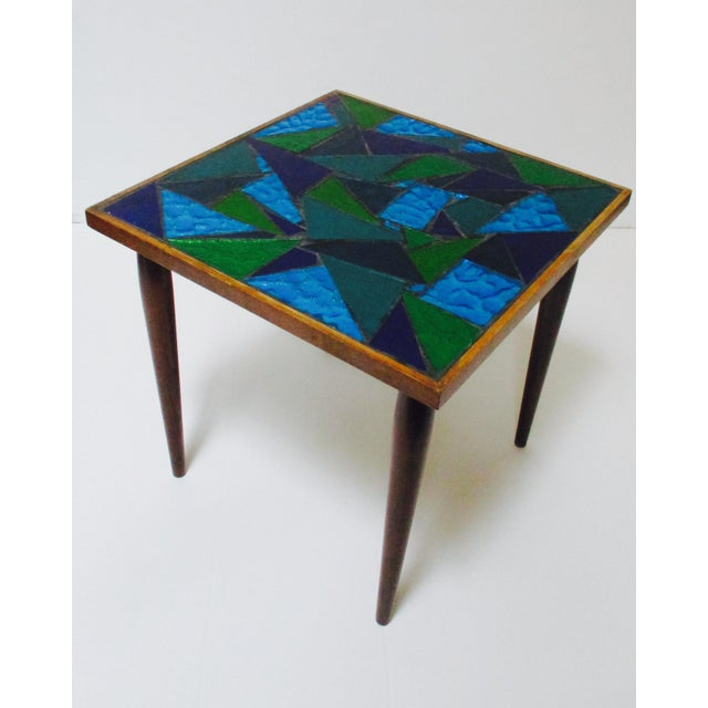 Jon Matin Mosaic Turquoise Tables - a Pair For Sale - Image 11 of 13
