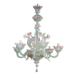 Vintage Hand-Blown Murano Chandelier For Sale