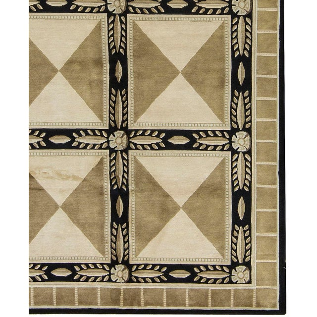 "Contemporary Hand-Woven Rug - 6'2"" x 9' - Image 3 of 3"