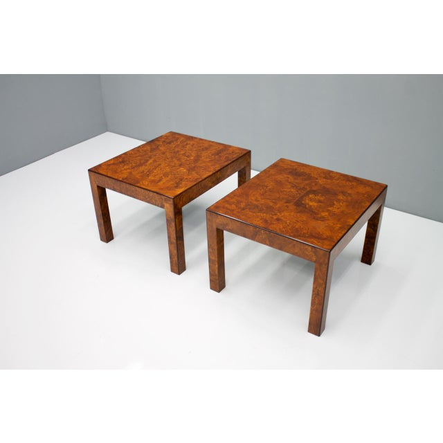 Pair of Burl Wood Side or End Tables 1970s For Sale - Image 4 of 10