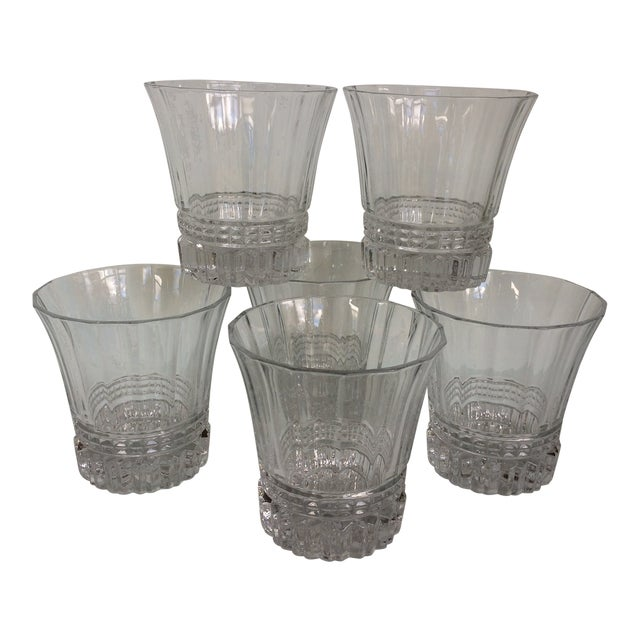 Cristal d'Arques-Durand Victoria Double Old Fashion Glasses - Set of 6 For Sale