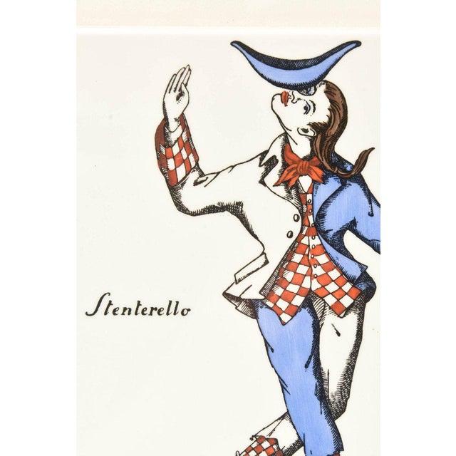 Wood Pair of Rare Vintage Fornasetti Ceramic Jester Ceramic Plaques Custom Framed For Sale - Image 7 of 13