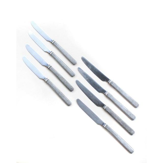 1990s Vintage Match Pewter Knives, Set of 8 For Sale - Image 5 of 6