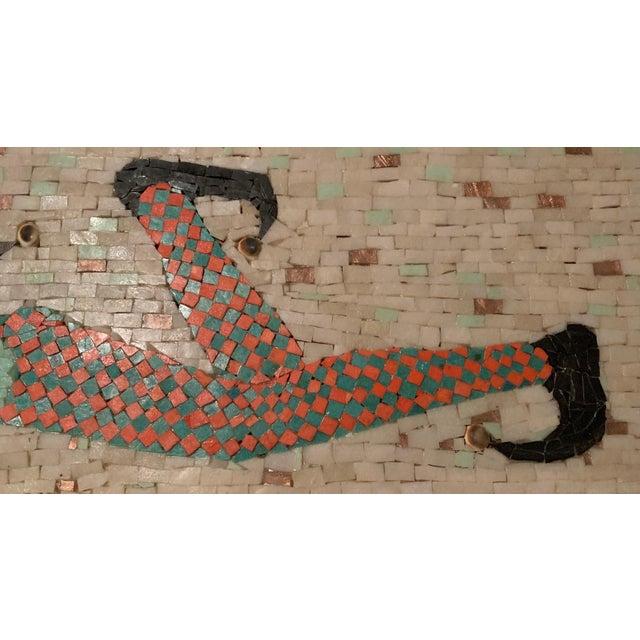 Tan Vintage Harlequin Jester Tile Mosaic Wall Hanging For Sale - Image 8 of 12