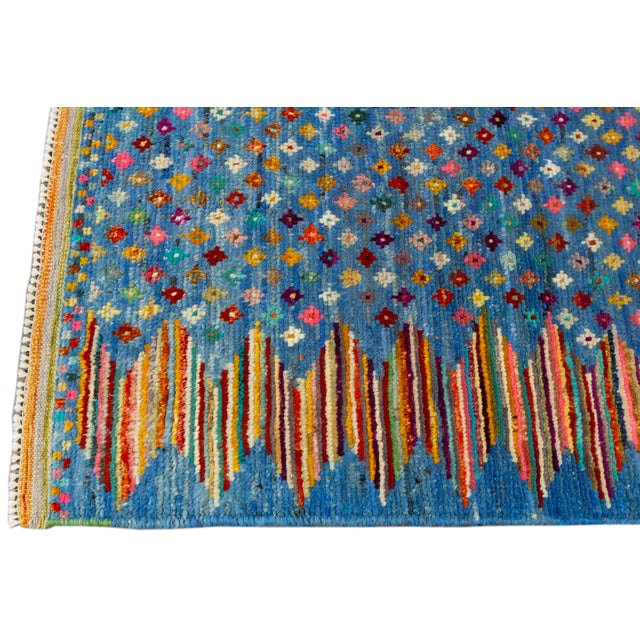 "Modern Modern Gabbeh Rug, 2'7"" X 9'10"" For Sale - Image 3 of 10"