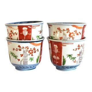 19th Century Japanese Imari Tea Bowls - Srt of 4 For Sale