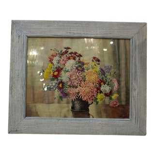 1920s Vintage English Framed Watercolor Painting For Sale