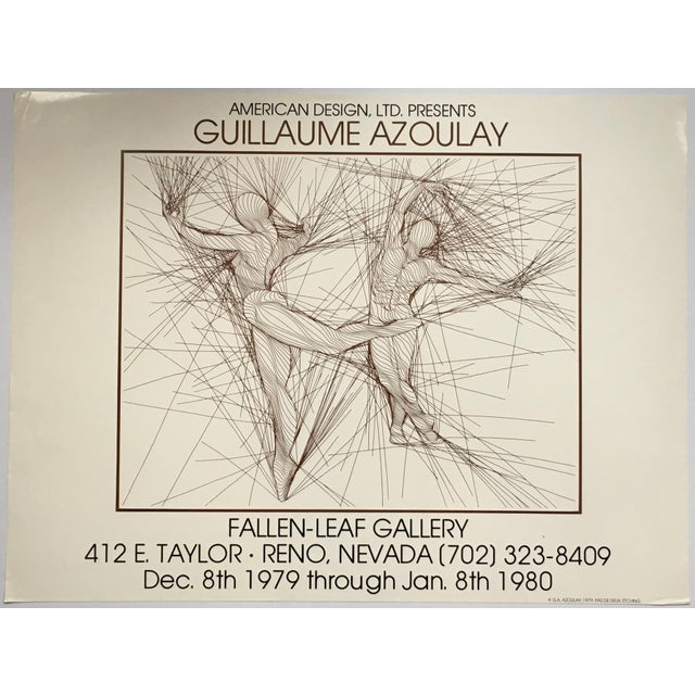 Vintage Guillaume Azoulay Gallery Exhibit Poster For Sale - Image 10 of 10