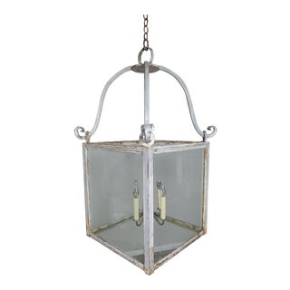 Swedish Painted Gilt Iron Lantern For Sale