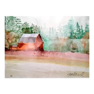 """La Center, WA."" Watercolor Painting For Sale"