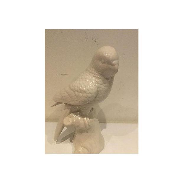 White Porcelain Parrot Figurine - Image 3 of 4