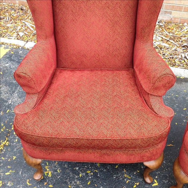 Walter E. Smithe Wingback Chairs - Pair For Sale In Chicago - Image 6 of 10