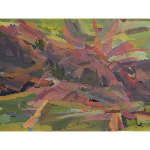 Bright Abstracted Landscape For Sale