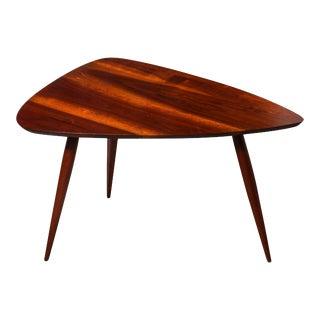 Phillip Lloyd Powell Black Walnut Tripod Occasional Table, Circa 1960 For Sale