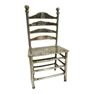 Sterling Silver Ladder Back Chair Model For Sale