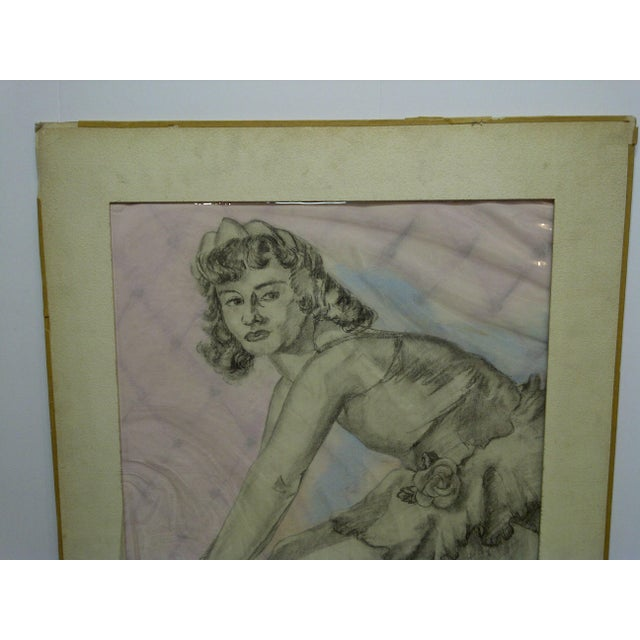 "Contemporary Tom Sturges Jr. ""Curtain Time"" Original Matted Drawing For Sale - Image 3 of 7"