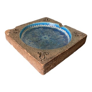 Bitossi Ceramic & Stone Ashtray For Sale