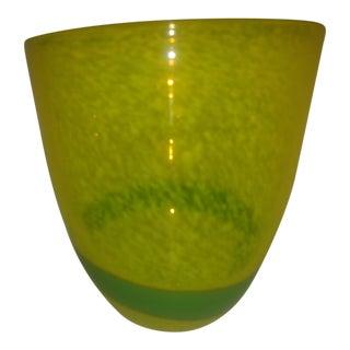 Murano Green Glass Vase