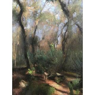 "Pöyhönen Framed Oil Painting, ""Florida Scrub"", 37.5 X 49.75 In. Frame For Sale"