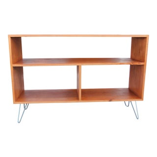 Mid-Century Modern Solid Wood Hair Pin Leg Credenza For Sale