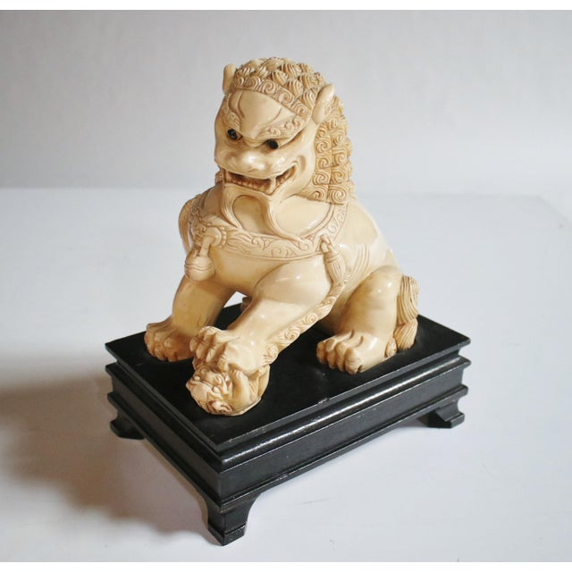 Mid-Century Chinese Guardian Foo Lion Sculpture - Image 8 of 8
