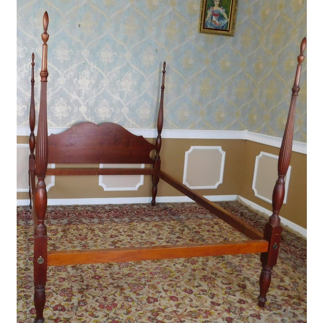 Eldred Wheeler Colonial Queen Poster Bed For Sale - Image 4 of 11