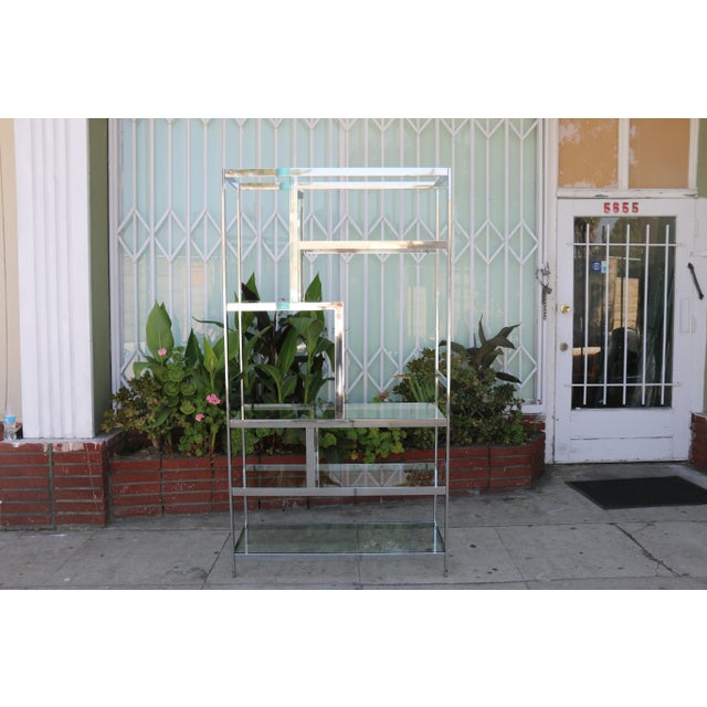 Chrome Modern Etagere For Sale - Image 4 of 11