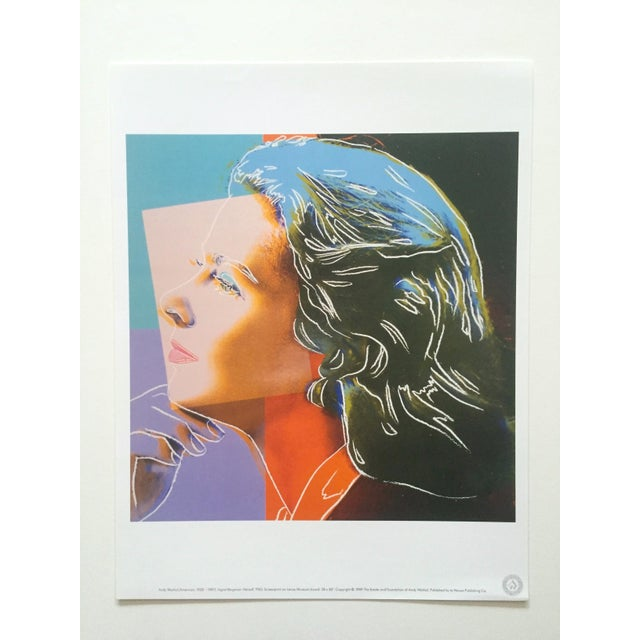 """Andy Warhol Andy Warhol Estate Rare Vintage 1989 """" Familiar Faces """" Portfolio Collector's Pop Art Lithograph Prints - Set of 6 For Sale - Image 4 of 13"""