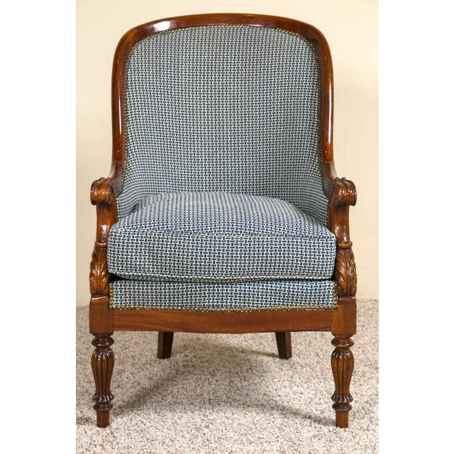 Empire Pair Mahogany Empire Style Armchairs For Sale - Image 3 of 9