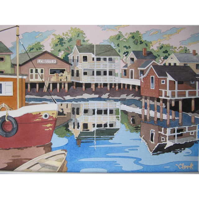 New England Watercolor Painting - Image 4 of 8