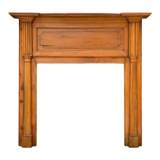 Early 19th Century Pine Fireplace Mantel For Sale