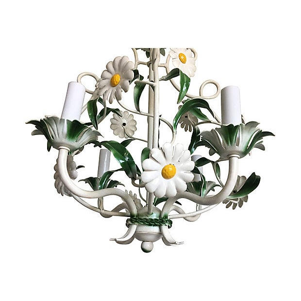 Boho Chic 1950s Italian Daisies Chandelier For Sale - Image 3 of 8