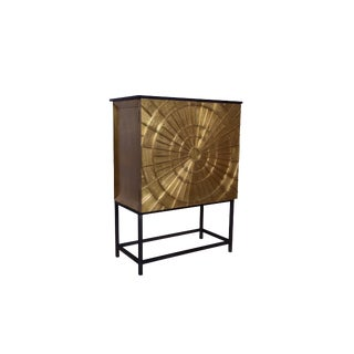 Ricard Brass Wine Cabinet For Sale
