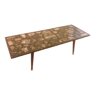 Stone and Chattahoocie Mid Century Coffee Table For Sale