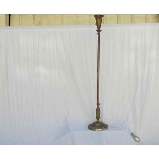 Antique 1920s Torch Floor Lamp - Image 3 of 7