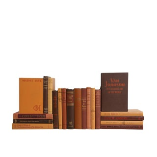 Midcentury Mix: Chocolate & Caramel - Set of Twenty Decorative Books