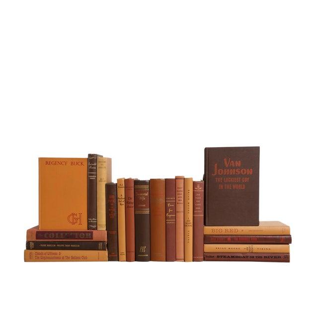 Midcentury Mix: Chocolate & Caramel - Set of Twenty Decorative Books For Sale