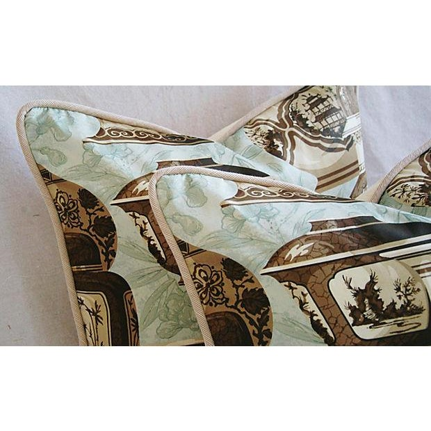 Custom Braemore Chinoiserie Vase Pillows - A Pair For Sale - Image 5 of 10