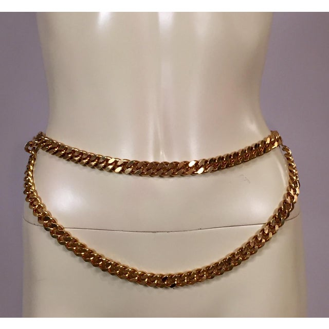 Chanel Chanel Classic Double Strand Chain Link Belt For Sale - Image 4 of 6