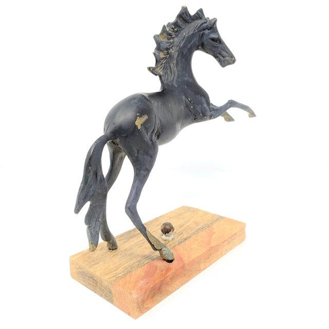 Metal Vintage Mounted Horse Sculpture For Sale - Image 7 of 13