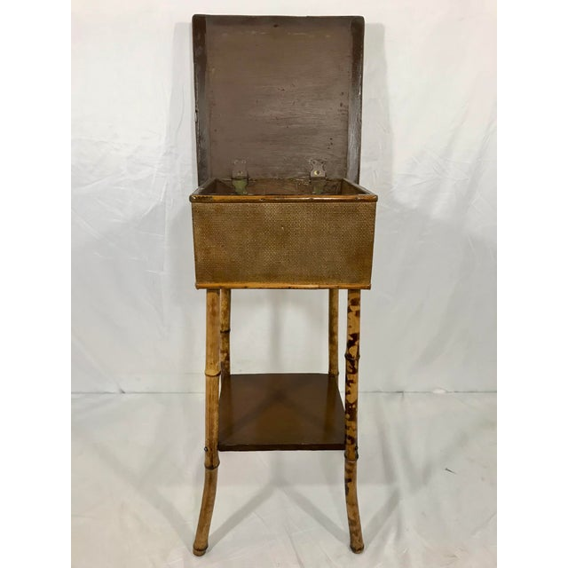 English 19th Century Bamboo Sewing Table For Sale - Image 6 of 9