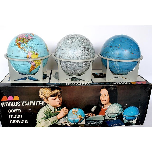 Vintage Moon Celestial Earth Globes- Set of 3 For Sale In New York - Image 6 of 11