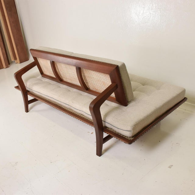 1950s Mexican Modernist Chaise Lounge Daybed by Charles Allen, Regil De Yucatian For Sale - Image 5 of 8