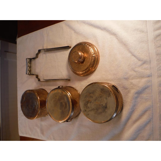 "Vintage Copper Clad ""Tiffin"" or ""Dabba"" - Image 6 of 9"