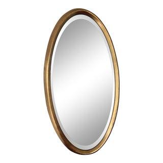 Vintage Oval Gold Gilt Beveled Mirror For Sale