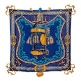 Image of Beautiful Hermes Equestrian Themed Brides De Cour Silk Scarf For Sale