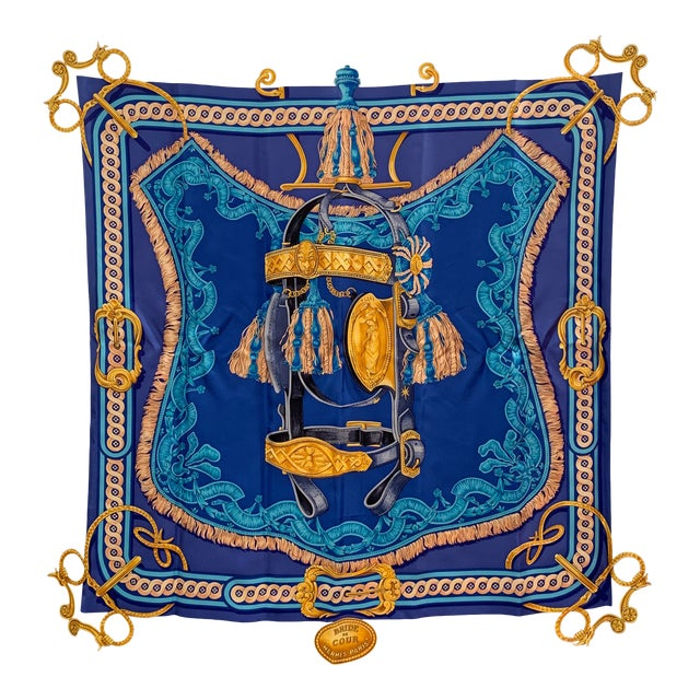 Beautiful Hermes Equestrian Themed Brides De Cour Silk Scarf For Sale