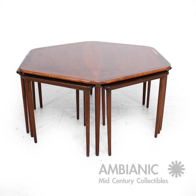Beautiful Modern Coffee Tables: Incredible Hexagon Coffee Table And Nesting Tables Danish