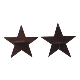 Pair of Star Shelves For Sale